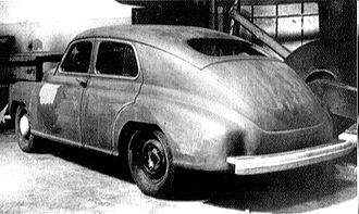 GAZ-M20 Pobeda - Image: Pobeda Mockup 1943 44