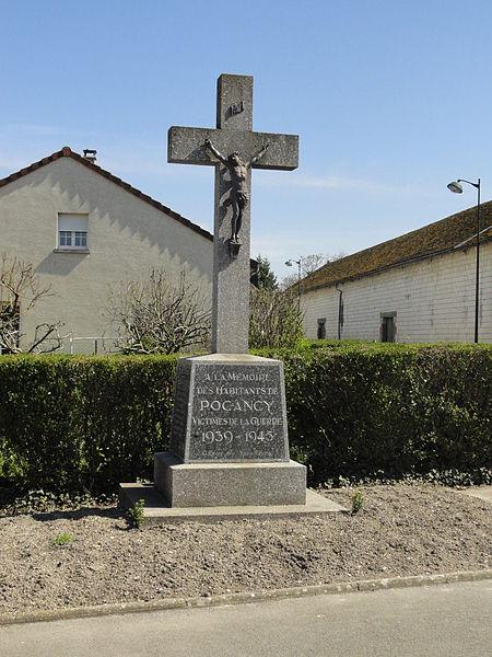 Monument aux morts de la Seconde Guerre mondiale de Pocancy (France).