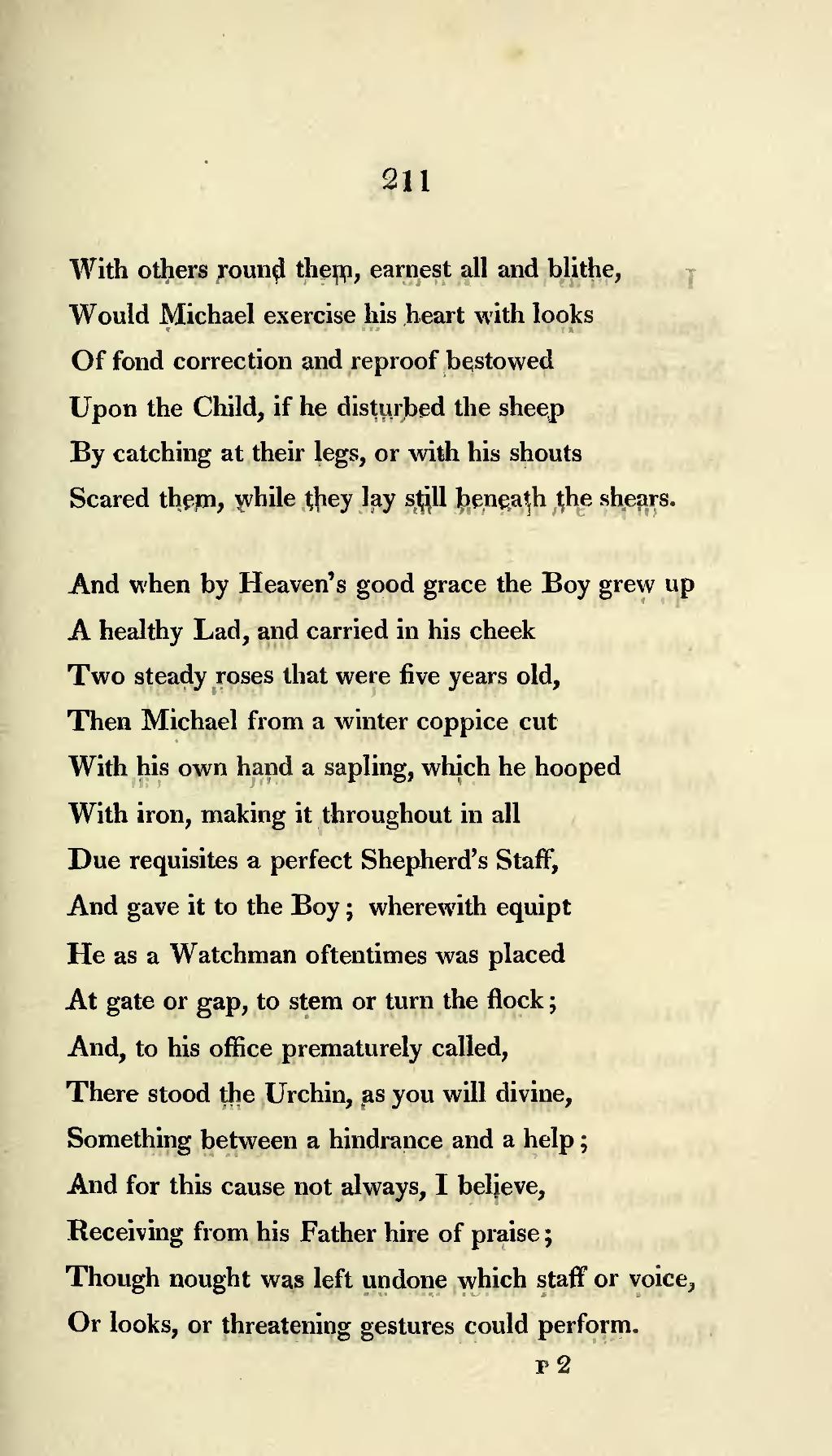 michael poem line by line explanation