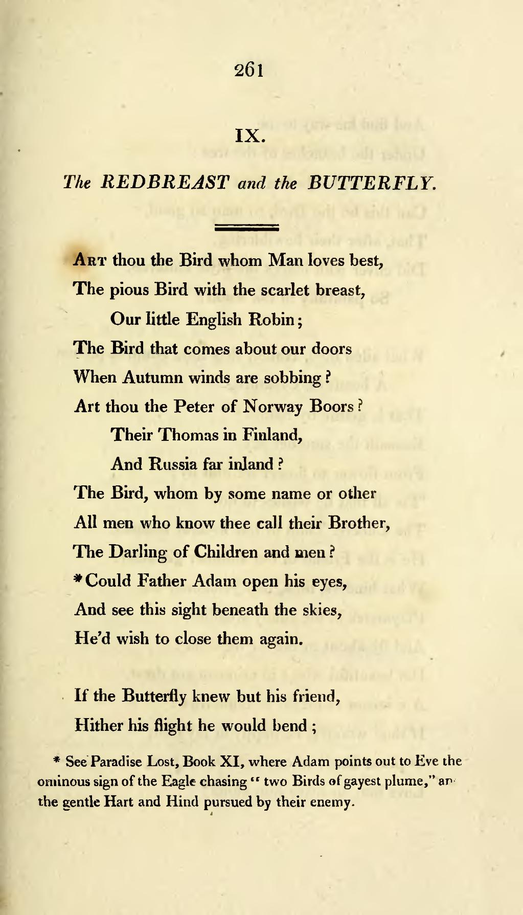 a comparison of the two versions of the poem to a butterfly by william wordsworth William wordsworth questions [] 1 which two lines from the poem help the reader determine the setting of the daffodils 2 what does wordsworth compare the daffodils to.