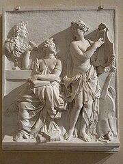 La poésie et la musique célébrant la gloire de Louis XIV