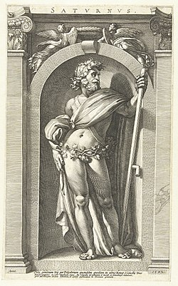 Polidoro da Caravaggio - Saturnus-thumb