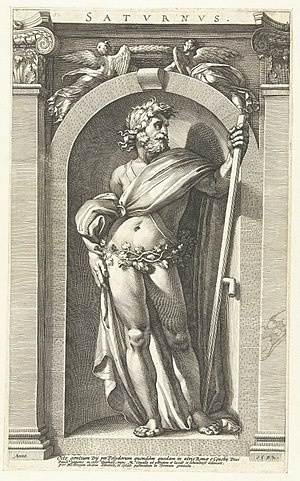 Saturn (mythology) - 16th-century engraving of Saturnus