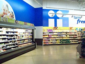 interior of a newer meijer in cedar springs michigan which opened in 2009