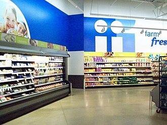 Meijer - Interior of a newer Meijer in Cedar Springs, Michigan, which opened in 2009.