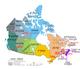 מפת פרובינציות וטריטוריות קנדה