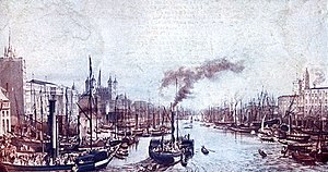 London River Services - Steamers on the Thames in 1841