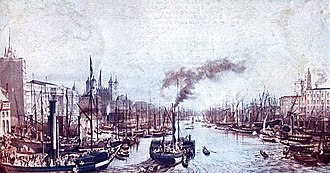 Pool of London - View of the Pool of London, River Thames, 1841