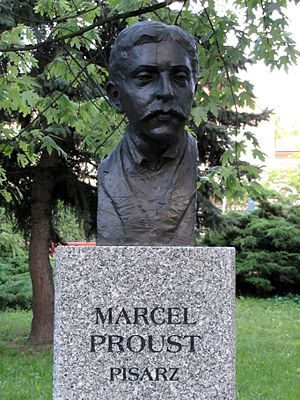 English: Bust of Marcel Proust in Celebrity Al...