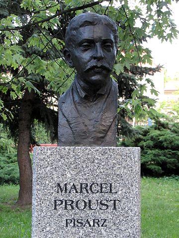Бюст Марселя Пруста в Кельце, Польша