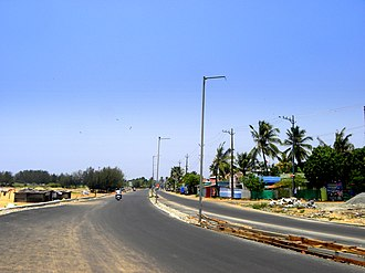 Port Road, Kollam - Image: Port Road in Kollam city, Mar 2017