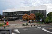 Portland Memorial Coliseum wide view from east parking garage (2013)