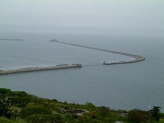 Breakwater (structure) - Three of the four breakwaters forming Portland Harbour