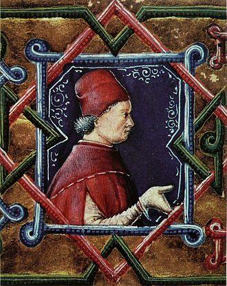 John Vitéz - Image: Portrait de János Vitéz. Frontispice d'un manuscrit (Plaute, Comédies)