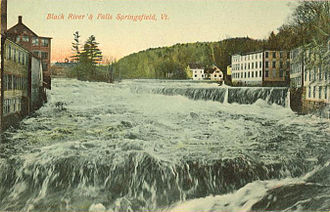 Springfield, Vermont - Black River and falls c. 1910