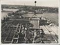 Pouring concrete on the southern platform of the Sydney Harbour Bridge, 1928 (8282708735).jpg