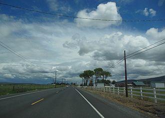 Powell Butte, Oregon - Powell Butte along Oregon Route 126