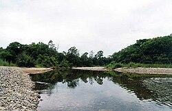 Il fiume Poyma nel distretto di Khasansky