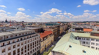 Na prikope, the most expensive street among the states of V4 Prague 07-2016 View from Powder Tower img4.jpg