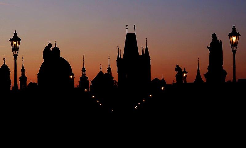 File:Prague skyline at dawn.jpg