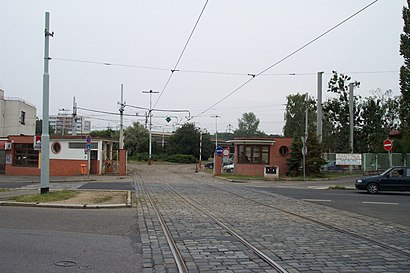 How to get to Vozovna Kobylisy with public transit - About the place