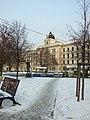 Praha, Smíchov, náměstí Kinských, justiční palác.JPG