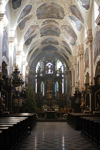 Strahov Monastery - Basilica of the Assumption of Our Lady is the main cloister church