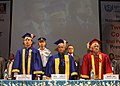 Pranab Mukherjee at the 26th Convocation of Indira Gandhi National Open University (IGNOU), in New Delhi. The Minister of State for Human Resource Development.jpg