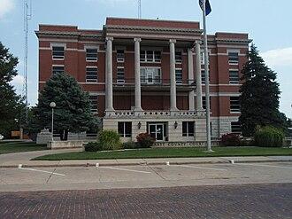 Pratt County, Kansas - Image: Pratt county kansas courthouse 2009
