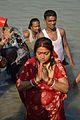 Praying Devotee - Chhath Puja Ceremony - Baja Kadamtala Ghat - Kolkata 2013-11-09 4288.JPG