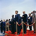 President John F. Kennedy Attends Arrival Ceremonies for Fulbert Youlou, President of the Republic of Congo (Brazzaville).jpg