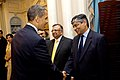 President Obama Shakes Hands With High-Ranking Indian Delegation Member (4700067440).jpg