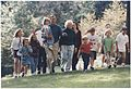 President and Mrs. Bush walk with their grandchildren at Camp David - NARA - 186458.jpg