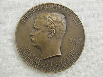 Second inauguration of Theodore Roosevelt - Obverse of a 1905 Roosevelt presidential inaugural medal.