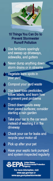 Public education graphic distributed by EPA Prevent stormwater pollution - EPA.png