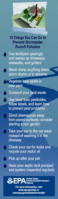 Prevent stormwater pollution - EPA