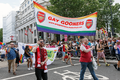 Pride in London 2016 - Gay Gooners in the parade passing Trafalgar Square.png