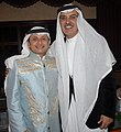 Prince Badr bin Abdulmohsen bin Abdulaziz Al-Saud with Abdul Majid Abdullah.jpg