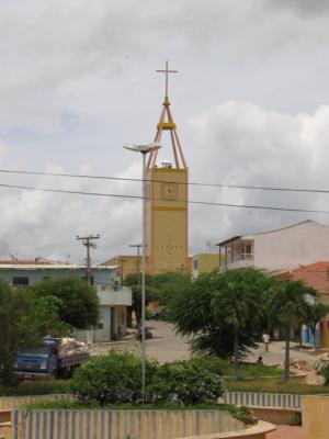 Vista de Princesa Isabel, com a Igreja Matriz ao fundo.