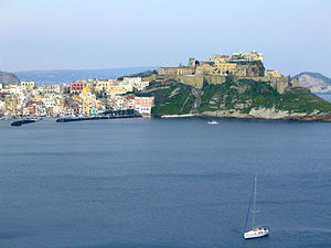 Procida - View of Corricella from Cape Pizzaco