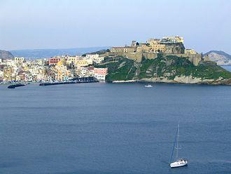 Procida - View of Corricella from Cape Pizzaco