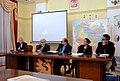 Prof. Sergij Trojan (Uni. Kiew), Dr. Franciszek Sowa (PWSZ), Dr. Stanisław Stępień (PWST), Bogumiła Berdychowska (NCK), Roman Adamski (PR Rz.).JPG