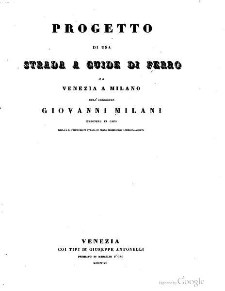 File:Progetto di una strada a guide di ferro da Venezia a Milano.djvu