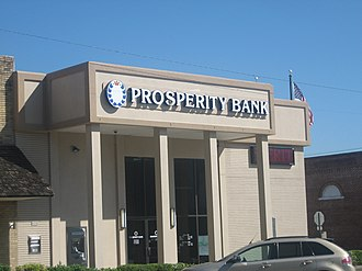 Burleson County, Texas - Prosperity Bank is located across the street from the Burleson County Courthouse in Caldwell.