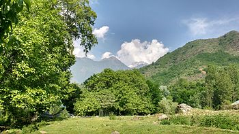 Protected mountain in Dacigam natinal park near Harwan Buddhist ruin.jpg