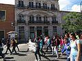 Protesta en favor de los profesores de Oaxaca, en la plaza principal de Aguascalientes (junio, 2016) 3.jpg