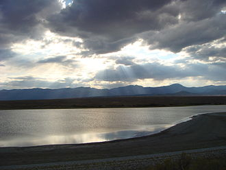 Spring (hydrology) - Pruess Lake is spring-fed in the arid Snake Valley of Utah.