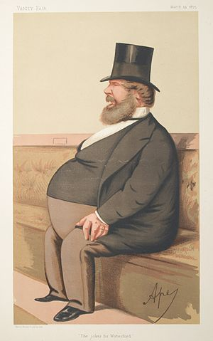 """Purcell O'Gorman - """"The Joker for Waterford"""", caricature of O'Gorman by """"Ape"""" in Vanity Fair dated 13 March 1875"""