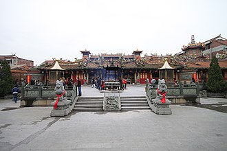 Chinese temple architecture - Temple of Guandi and Yue Fei in Quanzhou, Fujian.