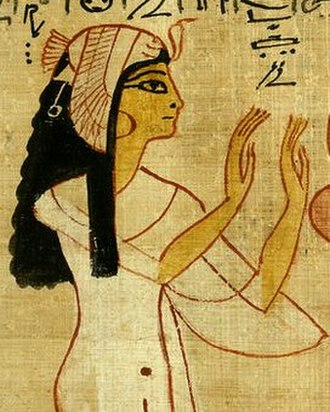 Nodjmet - Nodjmet depicted as a queen, from her Book of the Dead papyrus.